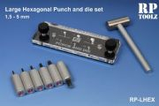RP Toolz Large Hexagonal Punch & Die Set 1.5mm to 5mm